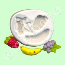Uva,Banana, Morango
